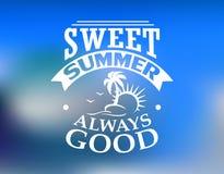 Cartaz do lazer e do curso do verão Fotografia de Stock