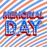 Cartaz do Memorial Day Imagens de Stock Royalty Free