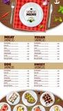 Cartaz do menu dos sanduíches ilustração do vetor