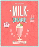 Cartaz do milk shake do vintage Fotos de Stock