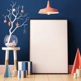 Cartaz do modelo do Natal no interior Fotografia de Stock Royalty Free
