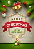 Cartaz do Natal Fotos de Stock