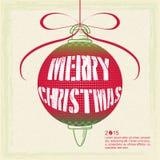 Cartaz do Natal ilustração do vetor