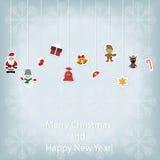 Cartaz do Natal das crianças Fotos de Stock