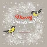 Cartaz do Natal Ilustração do vetor do fundo do Natal ilustração royalty free