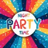 Cartaz do partido da celebração com confetes brilhantes Fotografia de Stock Royalty Free
