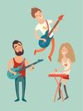 Cartaz do partido da música, Imagem de Stock