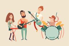 Cartaz do partido da música, Fotografia de Stock Royalty Free