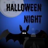 Cartaz do partido da noite de Dia das Bruxas Fotografia de Stock Royalty Free