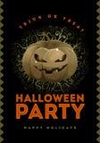 Cartaz do partido de Dia das Bruxas Imagem de Stock