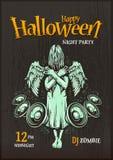 Cartaz do partido de Dia das Bruxas Imagens de Stock Royalty Free