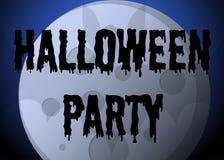 Cartaz do partido de Dia das Bruxas Imagens de Stock