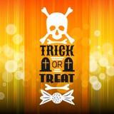 Cartaz do partido de Dia das Bruxas A tipografia rotula a fonte Foto de Stock Royalty Free
