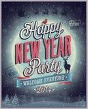 Cartaz do partido do ano novo. ilustração stock
