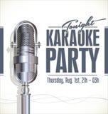 Cartaz do partido do karaoke Fotos de Stock Royalty Free