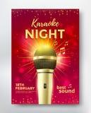 Cartaz do partido do karaoke Foto de Stock