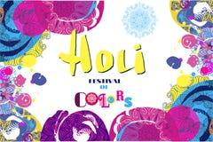 Cartaz do projeto de Holi Imagem de Stock