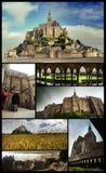 Cartaz do Saint Michel da montagem Imagem de Stock Royalty Free