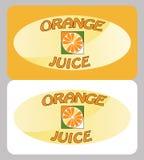 Cartaz do suco de laranja Imagens de Stock Royalty Free