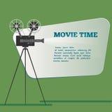 Cartaz do tempo de filme Ilustração do vetor dos desenhos animados Cinema filme ilustração royalty free