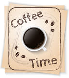 Cartaz do tempo do café Fotos de Stock