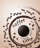 Cartaz do tempo do café Imagens de Stock