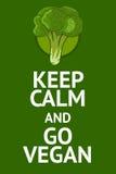 Cartaz do vegetariano com frase popular foto de stock royalty free