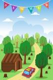 Cartaz do verão Imagens de Stock Royalty Free