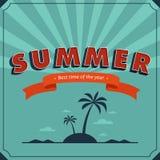 Cartaz do verão Fotografia de Stock Royalty Free