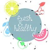 Cartaz do verão com frutos Imagem de Stock