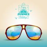 Cartaz do verão dos óculos de sol ilustração stock