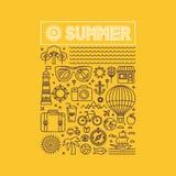 Cartaz do verão e das férias do vetor ilustração royalty free