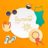 Cartaz do verão Vetor Foto de Stock Royalty Free