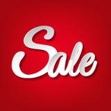 Cartaz do vermelho da venda Imagens de Stock Royalty Free