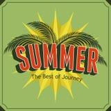 Cartaz do verão Foto de Stock