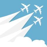 Cartaz do vetor com aviões Foto de Stock