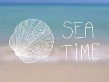 Cartaz do vetor do verão do tempo do mar Ilustração do Vetor