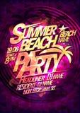 Cartaz do vetor do partido da praia do verão Foto de Stock Royalty Free