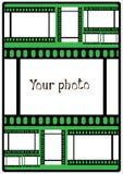 Cartaz do vetor sua foto no verde Fotografia de Stock