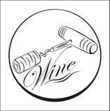 Cartaz do vinho Fotografia de Stock Royalty Free
