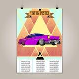 Cartaz do vintage com o lowrider alto do detalhe grunge Imagens de Stock Royalty Free