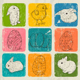 Cartaz do vintage sobre Easter. Imagens de Stock Royalty Free
