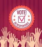 Cartaz do voto das eleições ilustração royalty free