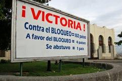 Cartaz do voto do bloqueio de Cuba Imagem de Stock