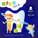 Cartaz dos cuidados dentários das crianças Foto de Stock