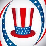 Cartaz dos EUA Imagens de Stock