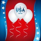 Cartaz dos EUA Fotografia de Stock Royalty Free
