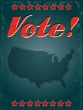 Cartaz dos EUA do voto foto de stock royalty free