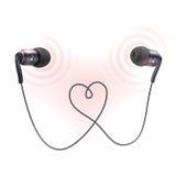 Cartaz dos tampões de ouvido dos fones de ouvido Foto de Stock Royalty Free