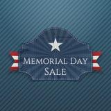 Cartaz e fita do cumprimento da venda de Memorial Day ilustração stock